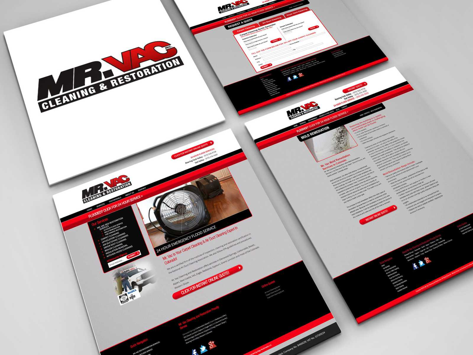 Custom Build WordPress Website: Mr Vac