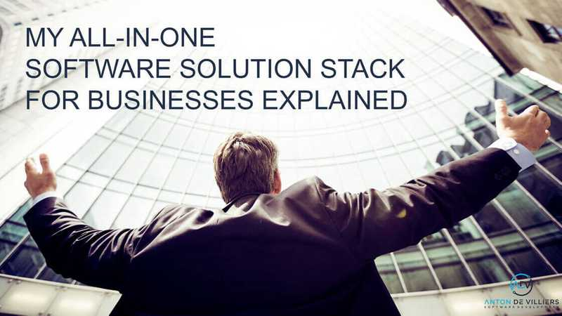 My all-in-one software solution stack explained